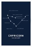 Astrology Chart Capricorn Print