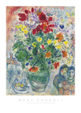Grand Bouquet de Renoncules, 1968 ポスター : マルク・シャガール