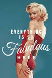 Fabulous Marilyn - Blue Poster von  The Chelsea Collection