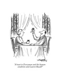 """""""A toast to Everyman and the human condition and Lauren Bacall!"""" - New Yorker Cartoon Premium Giclee Print by Henry Martin"""