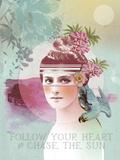 Follow Your Heart Lámina giclée por Anahata Katkin