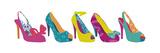 Shoe Collection Stampa di Clara Wells