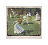 A Game of Tennis Premium Giclee-trykk av James Wallace