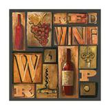 Type Set Wine Sq I Fotografisk tryk af Gregory Gorham