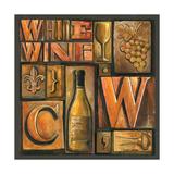 Type Set Wine Sq II Fotografisk tryk af Gregory Gorham