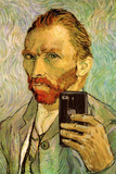Vincent Van Gogh Selfie Portrait Stretched Canvas Print