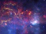 NASA's Great Observatories Examine the Galactic Center Region Space Photo Art Poster Print Kunstdrucke