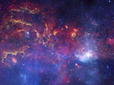 NASA's Great Observatories Examine the Galactic Center Region Space Photo Art Poster Print Poster