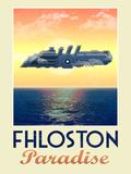 Fhloston Paradise Retro Travel Poster Kunstdrucke