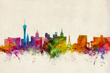 Las Vegas Nevada Skyline Prints by Michael Tompsett