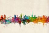 Newcastle England Skyline Prints by Michael Tompsett
