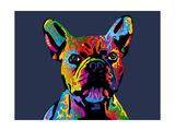 French Bulldog Lámina por Michael Tompsett