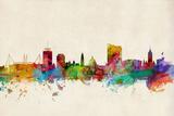 Cardiff Wales Skyline Prints by Michael Tompsett