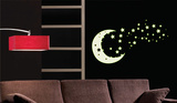 Moon and Stars - Glow in the dark Autocollant mural