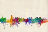 Dublin Ireland Skyline Print by Michael Tompsett