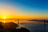 San Francisco Golden Gate Bridge Sunrise California USA from Marin Headlands Photographic Print by  holbox