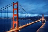 Golden Gate Bridge, Blue Hour Fotografie-Druck von  prochasson