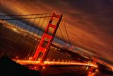 Sunset at Golden Gate Bridge Fotografie-Druck von  prochasson