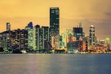 City of Miami, Summer Sunset Fotografie-Druck von  prochasson