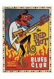 Red Hot Blues Kunstdruck von  Anderson Design Group