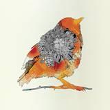 Orange Bird Pôsters por Iveta Abolina