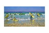 Surf School at St. Ives Impressão giclée por Andrew Macara