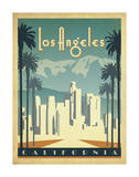Los Angeles, California Giclee Print by  Anderson Design Group