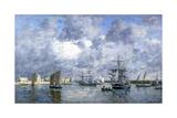 Port de Camaret Reproduction procédé giclée par Eugène Boudin