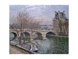 Le pont Royal et le pavillon de Flore Stampa giclée di Camille Pissarro