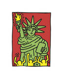 Statue of Liberty, 1986 Giclee Print by Keith Haring