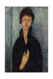 Femme aux yeux bleus Giclée-tryk af Amedeo Modigliani