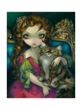Princess with a Maine Coon Cat Posters par Jasmine Becket-Griffith