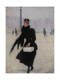 Parisienne, place de la Concorde Giclee Print by Jean Béraud