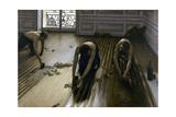 Raboteurs de parquets Giclée-vedos tekijänä Gustave Caillebotte