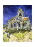 L'Eglise d'Auvers-sur-Oise Giclée-Druck von Vincent van Gogh