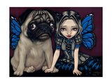Pug Pixie Affiches par Jasmine Becket-Griffith