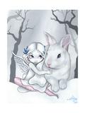 Snow Bunny Art by Jasmine Becket-Griffith