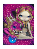 Shimmering Pink Dragon Affiches par Jasmine Becket-Griffith