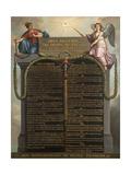 Déclaration des droits de l'homme et du citoyen Reproduction procédé giclée par Jean Jacques François Le Barbier