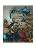 Butterflies and Bones Affiche par Jasmine Becket-Griffith