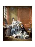 La marchande de modes Reproduction procédé giclée par Francois Boucher