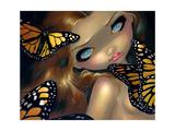 Nymph with Monarchs Affiches par Jasmine Becket-Griffith