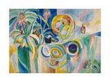 Symphonie colorée Giclee-trykk av Robert Delaunay