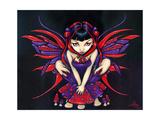 Polka Dot Mushroom Fairy Lámina fotográfica por Jasmine Becket-Griffith