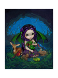 Dragonling Garden III Affiche par Jasmine Becket-Griffith