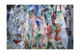 La ville de Paris Impressão giclée por Robert Delaunay