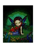 Dragonling Garden I Posters par Jasmine Becket-Griffith