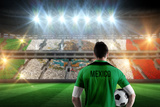 Mexico Football Player Holding Ball against Stadium Full of Mexico Football Fans Impressão fotográfica por Wavebreak Media Ltd