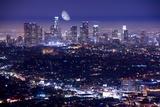 Los Angeles at Night Reproduction photographique par  duallogic