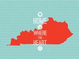 Home Is Where The Heart Is - Kentucky Trykk på strukket lerret